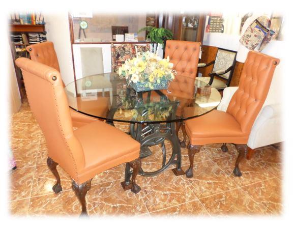conjunto mesa sillones piel ofertas en soria